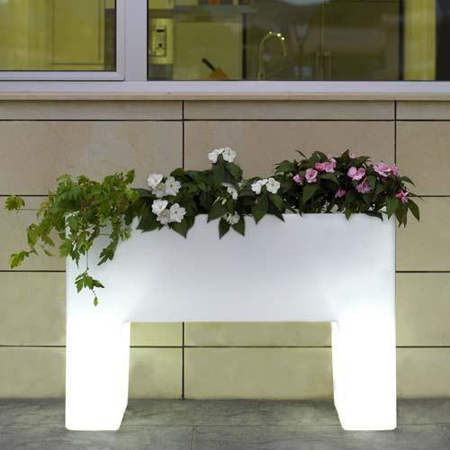 Maceta muro luz for Jardineras iluminadas