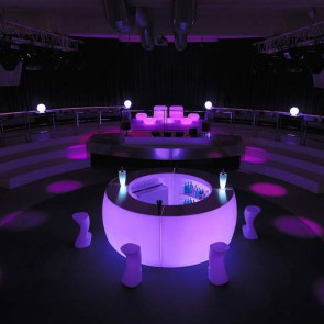 4 módulos con luz led lila