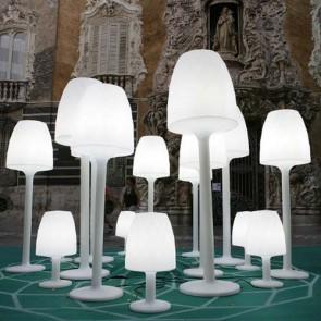 Vases Lampara de Pie medium iluminada